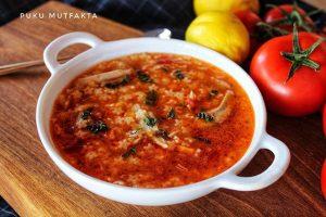 Tavuk Suyuna Sebzeli Şehriye Çorbası